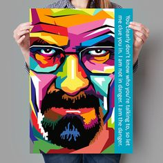 WPAP Pop Art Breaking Bad Heisenberg van WPAPPopArt op Etsy