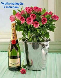 Happy Birthday Wishes Images, Birthday Wishes Cards, Happy Birthday Greetings, Birthday Quotes, Birthday Presents, Moet Chandon, Wine Bottle Images, Happy Birthday Beautiful, Flower Phone Wallpaper