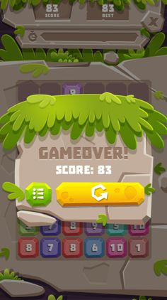 Buy Stone Merge - Puzzle Game (Construct by redfoc on CodeCanyon. Stone Merge is a simple and fun casual game, it's a game combination of Tetris and 2048 game with Drag and drop. Game Gui, Game Data, Crazy Games, Game Ui Design, Game Interface, Game Background, 3d Texture, Ui Design Inspiration, Game Concept