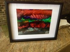 Alcohol Ink Painting, My Arts, Paper