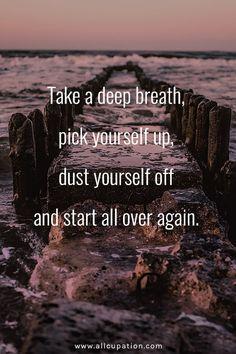 Take a deep breath & start over again...