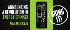 So excited for this all natural healthier energy drink!! #itworks #itworksenergy #allnatural #energydrink #energy #yum
