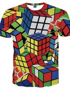 1633e2bef0e9 Summer Magic Rubik Cube Print T Shirt Casual Female Clothes Casual Short  Sleeve O-neck Tshirts White Pink Tops Tee Plus Size A Wide Selection Of  Colours And ...