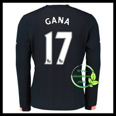 Fotballdrakter Everton Langermet GANA #17 Bortedraktsett 2016-2017 Everton, Premier League, Graphic Sweatshirt, Sweatshirts, Sports, Sweaters, Tops, Fashion, Hs Sports