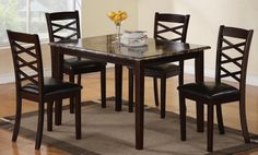 ... Cheap Dining Latitude Sets Wooden Style Granite Countertops Table Image