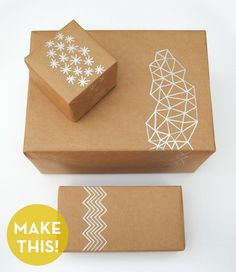 brown paper and silver pen - add a stylish touch to gifts this year! by letha