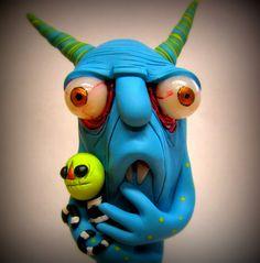 ooak monster art doll sculpture Jibby by mealymonster on Etsy, $42.00