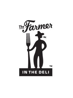 "Makes me want to ask, ""Have you hugged your logo lately?"" Farmer in the Deli logo Typography Logo, Graphic Design Typography, Logo Branding, Branding Design, Logo Design Liebe, Farmers Market Logo, Farm Logo, Great Logos, Logo Restaurant"