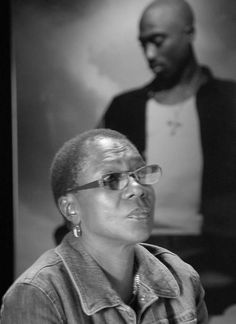 Afeni Shakur.. She is such an amazing human being for giving us the best blessing we have had on this earth.. Her son Tupac Shakur.