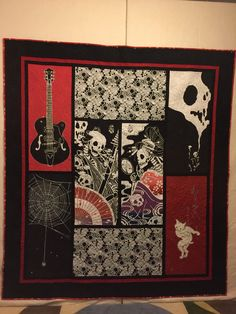 Dan's Music, the macabre, and cats quilt