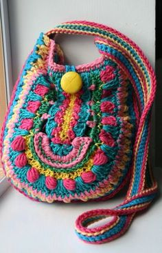 Crochet pattern, crochet bag pattern, crochet color bag pattern, granny crochet bag pattern 166 Instant Download Getting ready for the spring, here is my first super colorful crochet bag pattern of the year! I have quite a lot of fun putting the colours together for this bags pattern, I basically went through all my ends and decided I was going to make something really orson with them! I am very happy with the end result! You could get this pattern and another two of my mandala style bags…