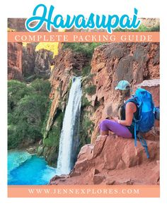 Havasupai Essentials Packing Guide: Your complete guide to backpacking into Havasu Falls. What to pack, best gear recommendations, camping essentials, backpacking food, what type of backpack to bring, hiking shoes, and more! #havasupai #havasu #havasufalls #arizona #backpacking