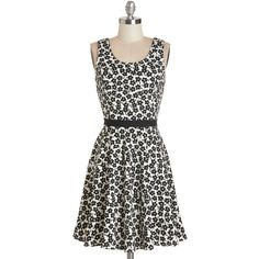 ModCloth Sleeveless A-line Always Be My Daisy Dress featuring polyvore fashion clothing dresses apparel fashion dress varies sleeveless pleated dress a line dress floral dress daisy print dress floral print dress