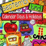 Calendrier ☼ French Calendar Days and Holidays Complete Calendar Set full of big, bright images to create an awesome classroom calendar! Numbers, Days of the Week, Months of the Year, Years and seasons also included! Core French, French Class, French Lessons, French Teaching Resources, Teaching French, Teaching Ideas, Classroom Calendar, Classroom Decor, French Teacher