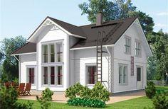 vitt hus, gråa knutar