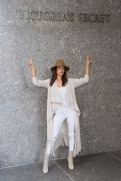 Alessandra Ambrosio showed off her chicest street style in New York City on Nov. 9, just one day before the Victoria's Secret Fashion Show taping — the show airs on Dec. 8 on CBS. The Brazilian model rocked not one but two killer outfits on the busy streets of the city.