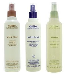 AVEDA Witch Hazel Light Hold Hair Spray, Brilliant Medium Hold Hair Spray, Firmata Firm Hold Hair Spray... designed to reduce static, eliminate flyaways, and boost shine in varied hold strengths