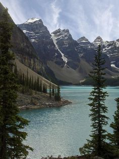 Lake Moraine - Banff National Park Photograph by Daniel Hagerman - Lake Moraine - Banff National Park Fine Art Prints and Posters for Sale