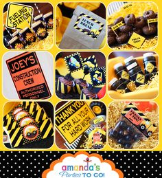 Construction Party Printable - Dump Truck - Builder - Birthday -Huge Party Set by Amanda's Parties TO GO. $29.00, via Etsy.
