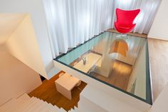 glass floor... Would freak me out a little