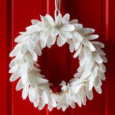 Felt Leaf Wreath #westelm