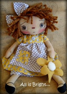 Raggedy Doll Madison by Allisbright is now in Etsy, $38.00