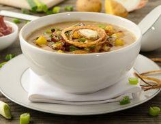 Speck-Bier-Suppe mit knusprigen Zwiebeln und Tiroler Bergkäse Rezept Japchae, Chili, Curry, Meals, Tableware, Ethnic Recipes, Kitchen, Soups, Awesome