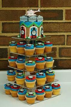 thomas cupcake tower