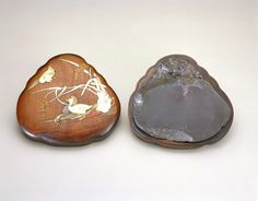 Inkstone and container late 19th century-before 1918