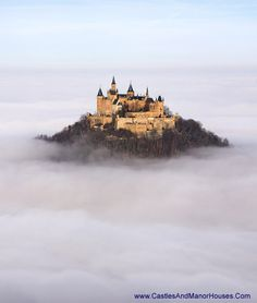 Schloss Hohenzollern (Hohenzollern Castle),    72379 Burg Hohenzollern, Germany...    http://www.castlesandmanorhouses.com/photos.htm  ....    Hohenzollern Castle is the ancestral seat of the Hohenzollern family, who became German Emperors. In 1945 it became home to the former Crown Prince Wilhelm of Germany, son of the last Hohenzollern monarch, Kaiser Wilhelm II, who is buried there with his wife, Crown Princess Cecilie.