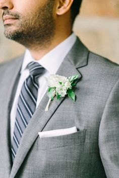58c1fbde397a Cloisters Wedding by Nicki Metcalf Photography and East Made Event Company-  Groom in grey suit