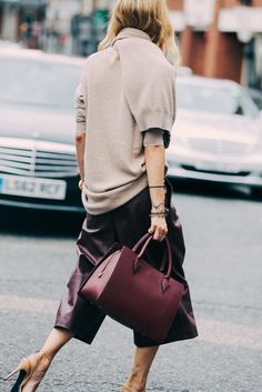 Casual chic in culottes and oversized sweaters