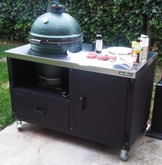 """Its the best one I have run across! It has a stainless steel top with galvanized steel base that's powder coated - very professional """"Outdoor Kitchen"""" looking."""