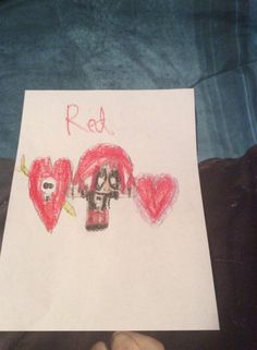 Red with hearts by Kaylee Alexis