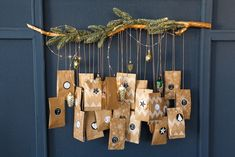 Original advent calendar: 20 cool and homemade ideas - Deco. Make An Advent Calendar, Homemade Advent Calendars, Advent Calendar Activities, Advent Calendars For Kids, Christmas Calendar, Christmas Activities, Christmas Traditions, Christmas Ribbon, A Christmas Story