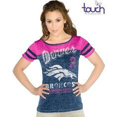 Touch by Alyssa Milano Denver Broncos Ladies BCA All Star Slim Fit Shirt - Royal Blue/Pink
