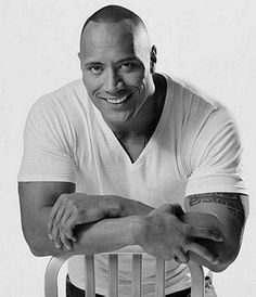 "Smiles...Dwayne Johnson a.k.a ""The Rock""...adorable, kick butt actor."
