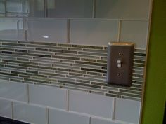 Find This Pin And More On Cabin Kitchen Furniture Decoration Interior Picturesque White Glass Subway Tiles Backsplash