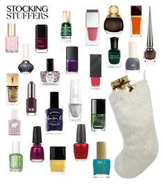 """Contest: Stocking stuffers"" by dtlpinn ❤ liked on Polyvore featuring beauty, Ciaté, Helen Moore, Essie, OPI, Yves Saint Laurent, NARS Cosmetics, FOSSIL, Chanel and Givenchy"