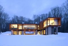 Exterior. Bridge House, by Joeb Moore + Partners Architects. Kent, Connecticut.