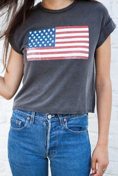 Caleigh Alien Stars and Stripe Top - Graphics T Shirt Time, 4th Of July Outfits, Glitz And Glam, Hipster Fashion, How To Look Pretty, I Dress, Stripe Top, Cool Outfits, Brandy Melville