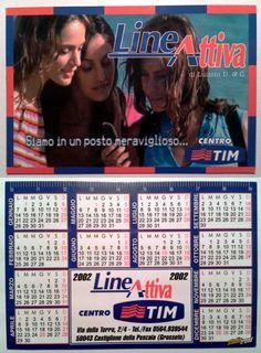 Calendarietto pubblicitario 2002 - Lineattiva