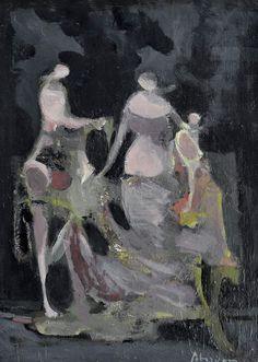 "amare-habeo: ""  Alfred Aberdam (Ukrainian-French, 1894-1963) At the Ball, 1940…"
