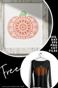 This week's Friday Freebie is a beautiful hand drawn, completely original Mandala Pumpkin SVG. This highly detailed design makes an impressive fall shirt sure to be the envy of your girlfriends. Fall Shirts, Cricut Creations, Svg Files For Cricut, Beautiful Hands, Cutting Files, Free Silhouette, Silhouette Cameo, How To Draw Hands, Mandala