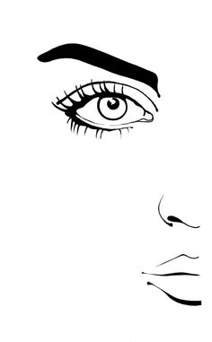 Rikke Jorgensen #illustration #beautyillustration #howto #eyeliner #blackandwhite #trafficNYC for artist bookings contact info@traffic-nyc.com