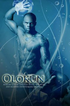 Olokun is an Orisha in Yoruba religion, associated with the sea. It works closely with Oya (Deity of the Winds) and Egungun (Collective Ancestral Spirits) to herald the way for those that pass to ancestorship, as it plays a critical role in Iku, Aye and the transition of human beings and spirits between these two existences.  Its name means Owner (Olo) of Oceans (Okun).