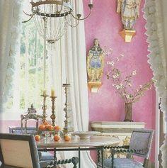 Lovely pink : Benjamin Moore's Wild Heart + Cranberry Ice glaze