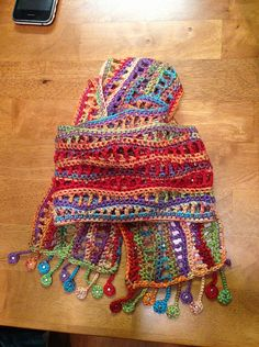 Crochet - Ravelry: adrgau's Mexican Waves - nancy's wave scarf for pattern - love this one worked lengthwise