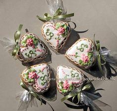 pasztell esküvői köszönetajándék mézeskalács szív   by Glazúr és Ájz