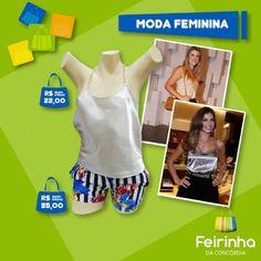 Essa blusinha de cetim de alcinha não é uma graça? Imagine esse look no #fimdesemana. Faça como as famosas!   #feirinhadaconcórdia #look #moda